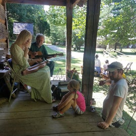 The wonderful folks at the history village sang a song for our daughter, awesome place!