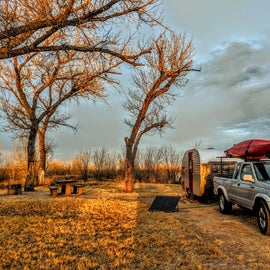 Spacious campsites, ours was along the river.