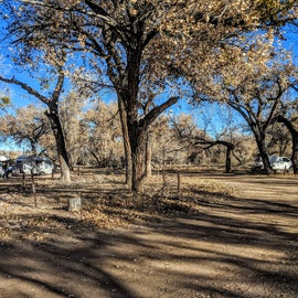 Lots of open space at the campground.