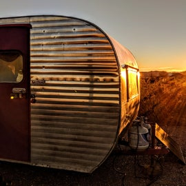 Sunrise over the campground.