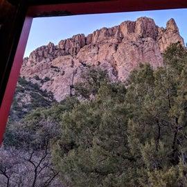 View from Hamlet, our camper door.