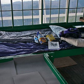 Inside the lookout area. Fits 4 people comfortably. Even if it was a tight fit, I wouldn't have minded because the views were definitely worth it.