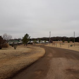 The road into the park.