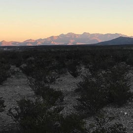 Sunrise at El Paso from my campsite
