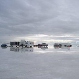 Salt flat pits
