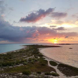 Sunrise on a deserted island