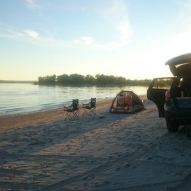 Car camping on the beach? Yes please! Make sure you have a 4WD car though.