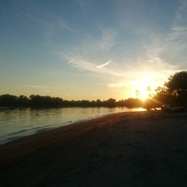 Sunset on the beach!