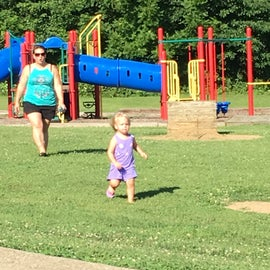 Granddaughter, Emma was mad that she couldn't stay longer!