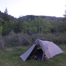 My lonely tent
