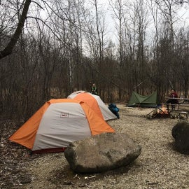 Tent city at site 314.