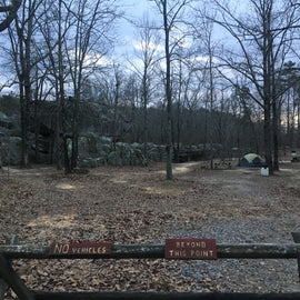 You can see the boulders come right up to the campground