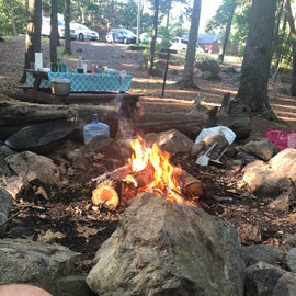 The fire is the main comfort of the camp... - Henry David Thoreau
