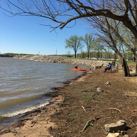 The beach in front of my site is great for launching a kayak