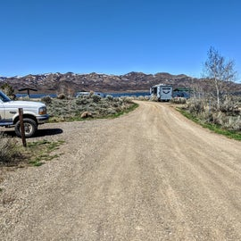 Good space in between sites and great for larger RV's.