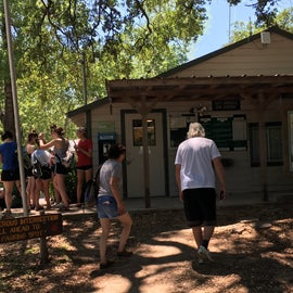 Ranger station at the entrance to the park