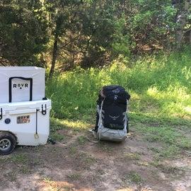 RovR RollR 60 cooler at Primitive campsite #6