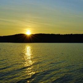 Sunset on Jordan Lake