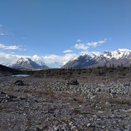 View of Root Glacier from campground.