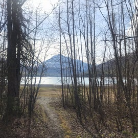 Eklutna Lake view from the site.