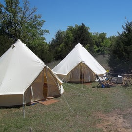 Rented tents from iGLAMP for group within the larger group.