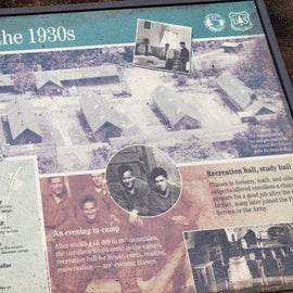 There are some signs describing the history of this campground