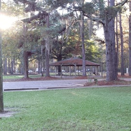Picnic shelter and playground.