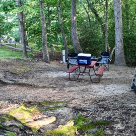 Not all tent sites are the same size, configuration.