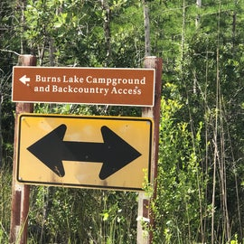 You'll drive down a dirt access road off of hwy 41.  Watch for this sign for the turn