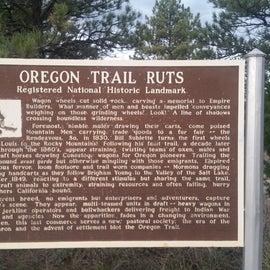 Near by Oregon trail ruts, a must see