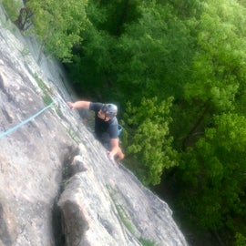 Nearby climbing at the trapps. Many campers are climbers