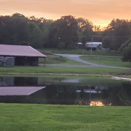 Event barn and front lake
