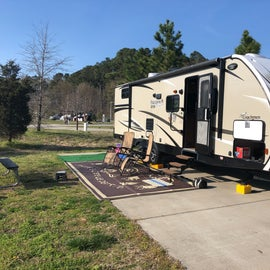 Our site in the middle of the campground. Sites were paved and level.