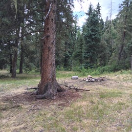 """My """"campsite"""", which was really just where someone had built a rock ring."""