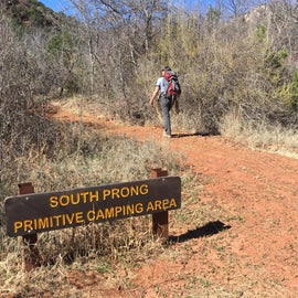 South Prong Primitive Camping Area entrance