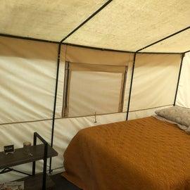 Plush glamping tent!