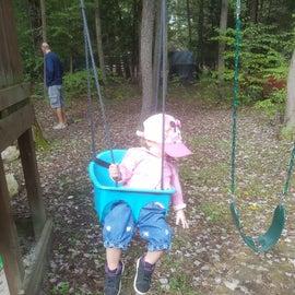 Swing set outside