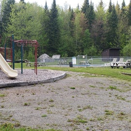 Playground between the camp office/store and the pool