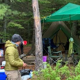 Teepee and tarp setup