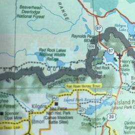 The bypass we took to West Yellowstone.