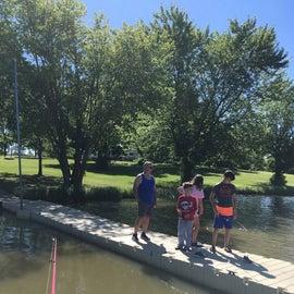 Fishing off the dock was fun.