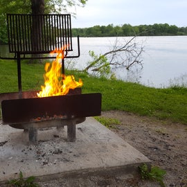 Cozy firepit at my site