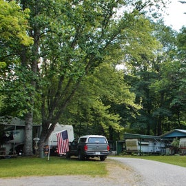When you first enter the campground, you will see several occupied RV sites.