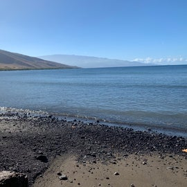 the beach at Olowalu - not much, but it's nice and quiet