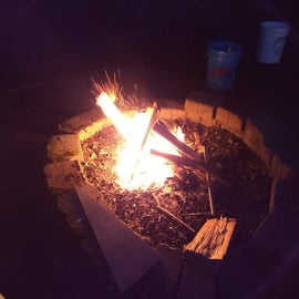 The wonderful fire pit.