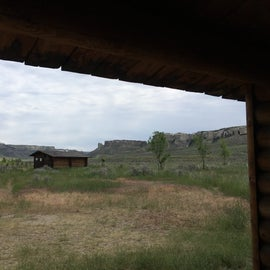 The campsite with a view of the Hole