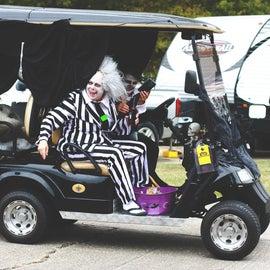 Halloween Golf Cart Parade