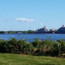 ship yard across the river