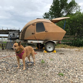 RV campsite is on gravel