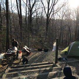 Campsite A24 in March